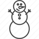 christmas, holiday, merry, new year, snow, snowman, winter icon
