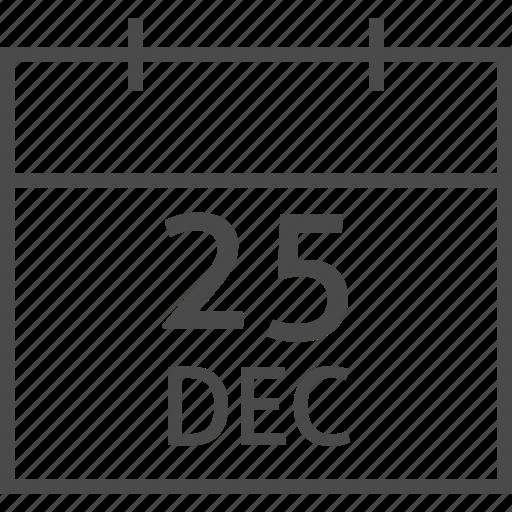 calendar, christmas, december, holiday, merry, seasonal, winter icon
