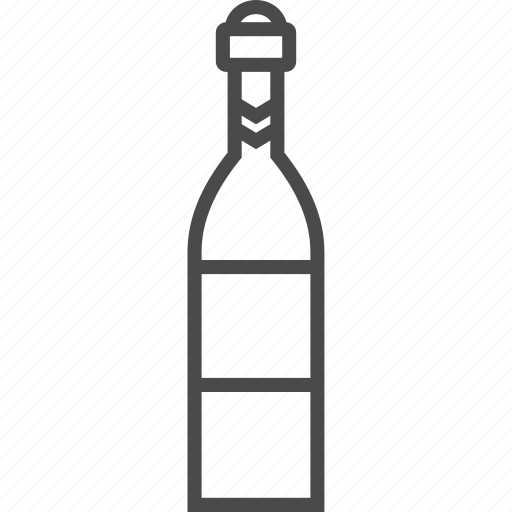 alcohol, bottle, bubbly, champagne, drink, fizz, wine icon