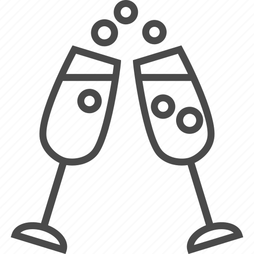 alcohol, bubbly, champagne, drink, fizz, glass, wine icon