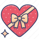 gift, chocolate, present, romance