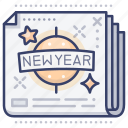 new, news, newspaper, year icon