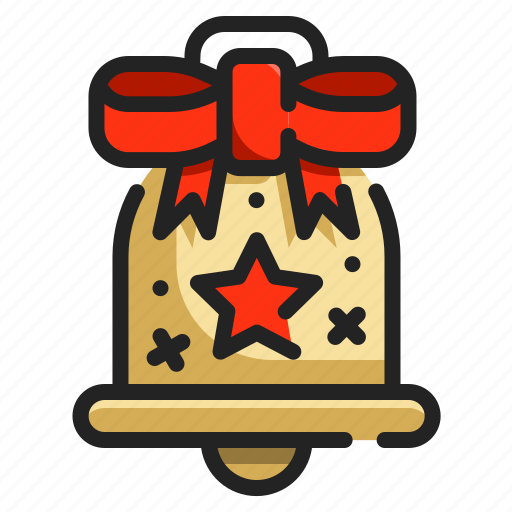 alarm, alert, bell, christmas, interface, notifications icon