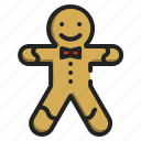 sweet, bakery, christmas, man, food, cookie, gingerbread