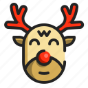 christmas, mammal, xmas, animal, reindeer, winter, deer
