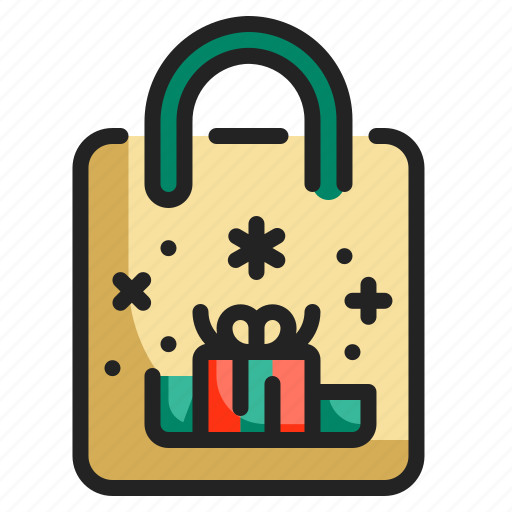 bag, christmas, gift, present, shopper, shopping, store icon