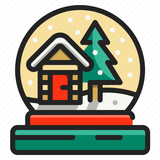 Christmas, decoration, globe, ornament, snow, tree icon - Download on Iconfinder