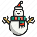 snow, christmas, snowman, xmas, winter, shapes