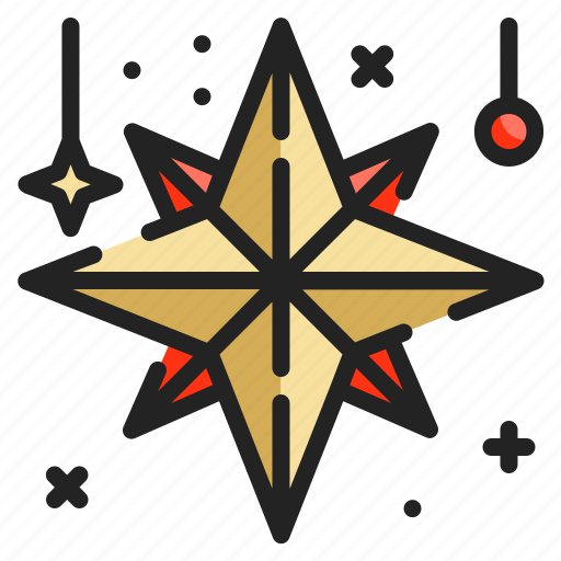 adornment, christmas, decoration, star, xmasg8vo icon