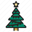 pine, christmas, xmas, tree, forest, decoration