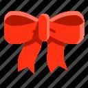 adornment, bow, christmas, decoration, ornament, ribbon icon