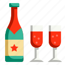 alcohol, bottle, celebration, champagne, drinks, party, restaurant icon