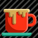 chocolate, coffee, cup, drink, hot, mug, restaurant icon