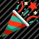 celebration, christmas, confetti, fun, new, party, year