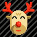 animal, christmas, deer, mammal, reindeer, winter, xmas