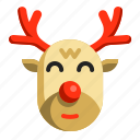 animal, christmas, deer, mammal, reindeer, winter, xmas icon