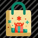 bag, christmas, gift, market, present, shopping, store