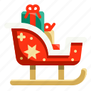 christmas, claus, gifts, santa, sledge, sleigh, winter