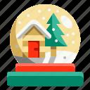 christmas, decoration, globe, ornament, snow, tools, tree icon