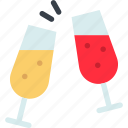 alcohol, celebration, champagne, drink, holiday, party, wine icon