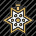 baubles, christmas, christmas ball, ornament, star icon