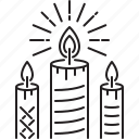 candles, christmas, holidays, new year, winter icon