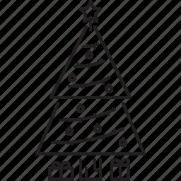 christmas, holidays, new year, tree, winter icon