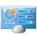 control, panel, snow icon