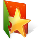 christmas, favorite, folder, star icon