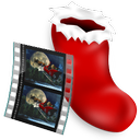 film, sock, video icon
