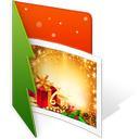 christmas, folder, photo icon