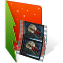 christmas, film, folder, video icon