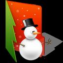 christmas, folder, snowman icon