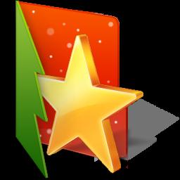 christmas, favorite, folder, star icon