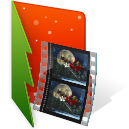 christmas, film, folder, video icon
