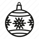 christmas, christmas ball, christmas decoration, december 25th, decoration, snowflake, xmas decoration icon