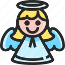 angel, christmas, holidays, newyear icon