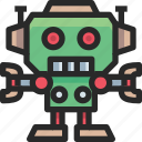 christmas, holidays, newyear, robot icon