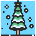 christmas, holidays, newyear, tree icon