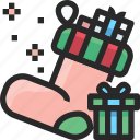 christmas, holidays, newyear, sock icon