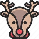 christmas, holidays, newyear, reindeer icon