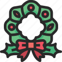 christmas, holidays, newyear, wreath icon