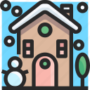 christmas, holidays, house, newyear icon