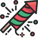christmas, fireworks, holidays, newyear icon