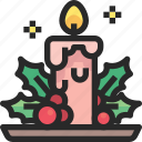 candle, christmas, holidays, newyear icon