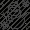 christmas, happy, snowman, decoration, snowflake, winter, holiday