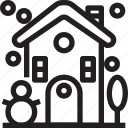 building, christmas, christmas party, house, newyear icon