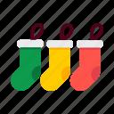 christmas, decoration, gift, holiday, socks, stockings, xmas icon