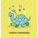 christmas holiday, christmas turtle, funny xmas, santa turtle, sea turtle icon