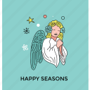 angel, christmas fairy, fairy, fairy angel, peace symbol icon